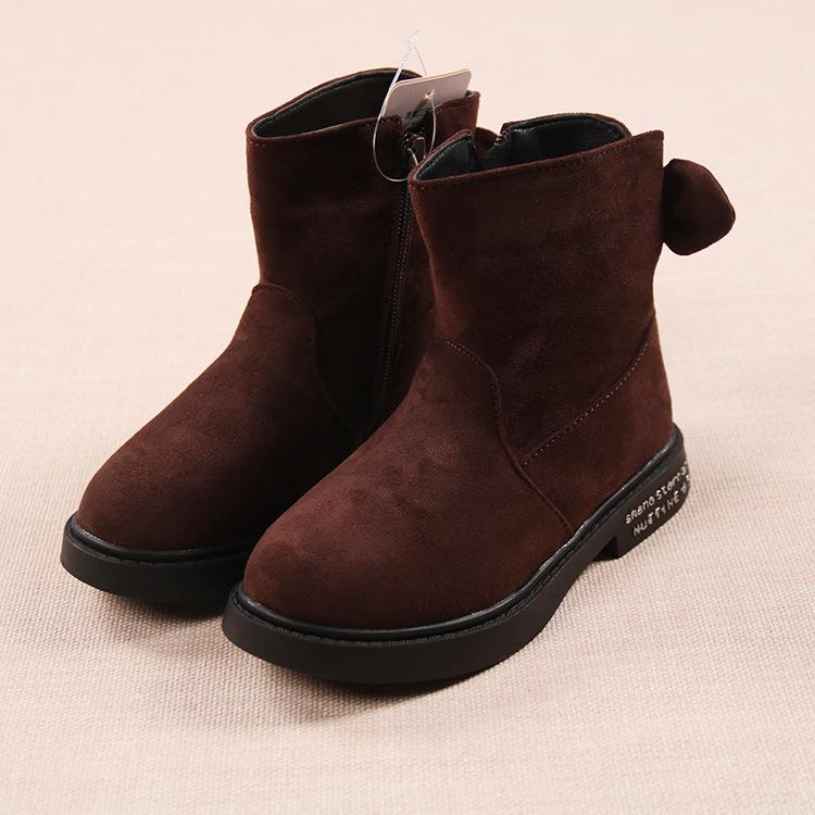 giày Bốt Bé Gái Size 30-36 Da Lộn Mềm Mịn