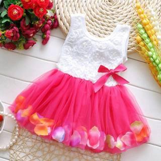 Đầm 2-5T Đầm Dễ Thương Đính Nơ Hoa Ren Dự Tiệc Công Chúa Cho Bé Gái Trẻ Mới Biết Đi Đầm Dự Tiệc Trẻ Em Quần Áo Khiêu Vũ