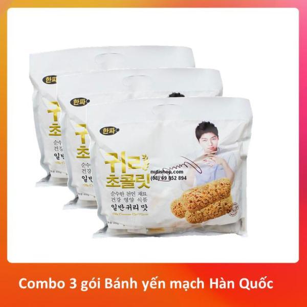 Combo 3 gói Bánh yến mạch Hàn Quốc