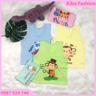 Áo ba lỗ cotton đẹp thoáng mát co giãn 4 chiều cho bé trai, bé gái từ 3-16kg ABL19 quần áo mùa hè, áo ba lỗ cho bé