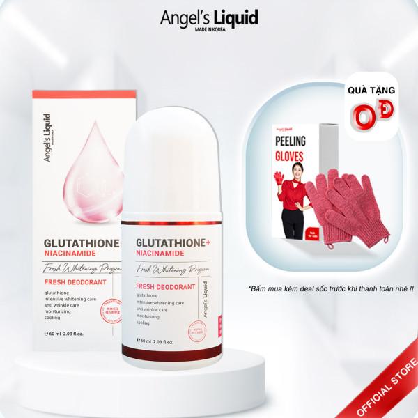 Lăn nách mờ thâm, dưỡng trắng da Angel Liquid Glutathione Plus Niacinamide Fresh Deodorant 60ml