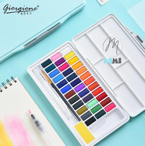 Mua Bộ Màu Nước Giorgione Hộp Cao Cấp nhựa Pastel Siêu Xinh 24/36/48 màu