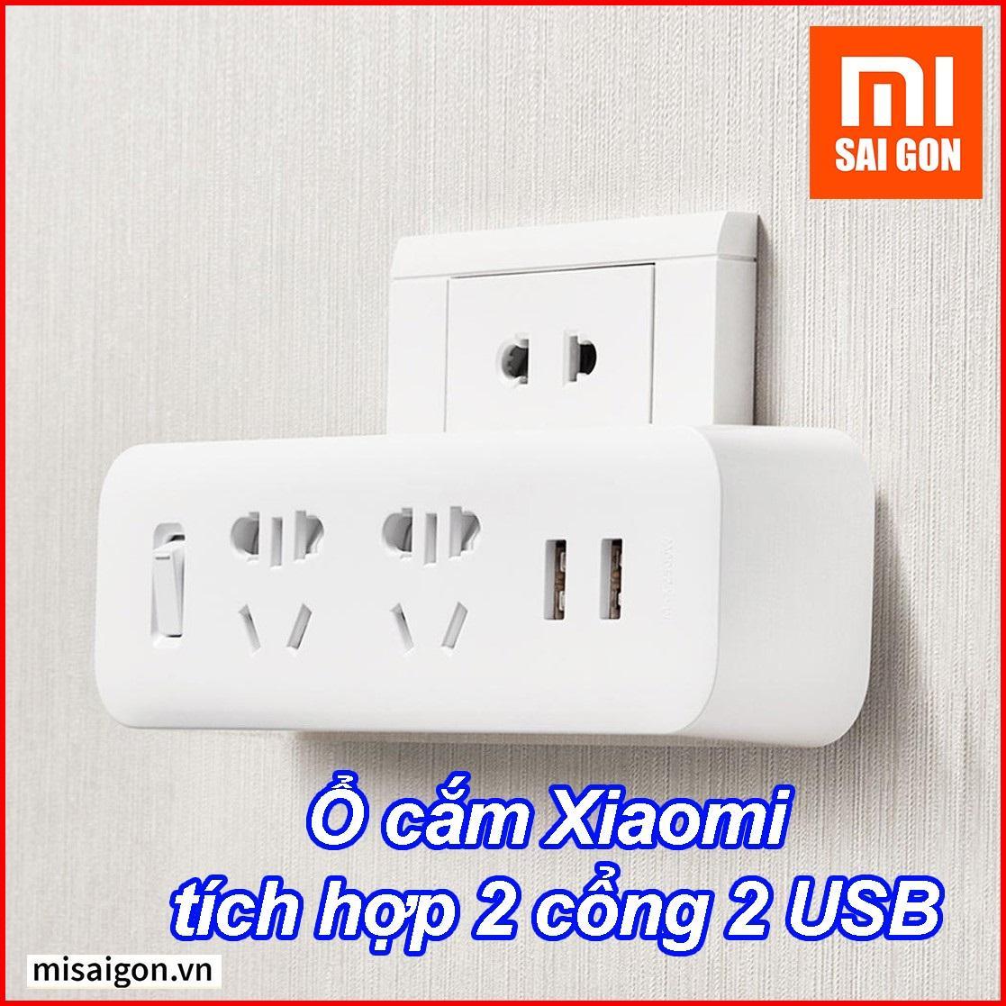 Ổ cắm Xiaomi tích hợp 2 cổng 2 USB