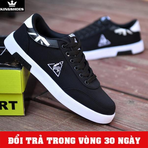 Giày Sneaker Nam Đen Mẫu Mới (Giá Siêu Sốc) - KINGSHOES (KS03) giá rẻ