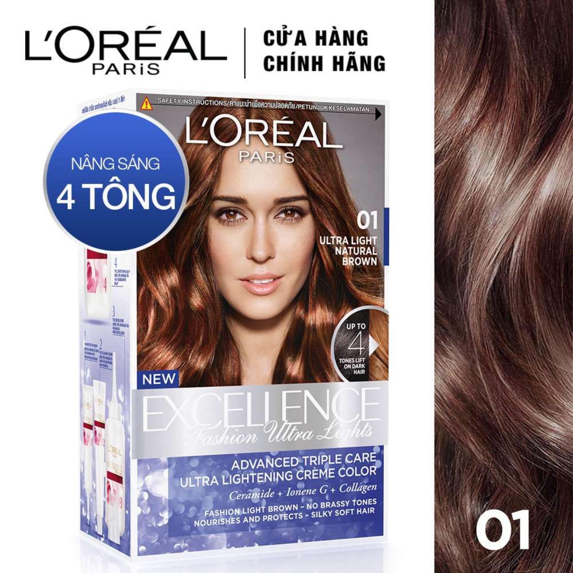 Kem nhuộm tóc nâng sáng LOreal Paris Excellence Fashion Ultra Light 172ml