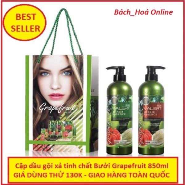 Cặp dầu gội xả tinh chất bưởi Grapefruit 850ml ngăn ngừa rụng tóc phục hồi hư tổn nhập khẩu chuẩn Anh, tinh chất bưởi GrapeFruit, cặp dầu gội dưỡng tóc, bộ dầu gội xả tinh chất bưởi giá rẻ