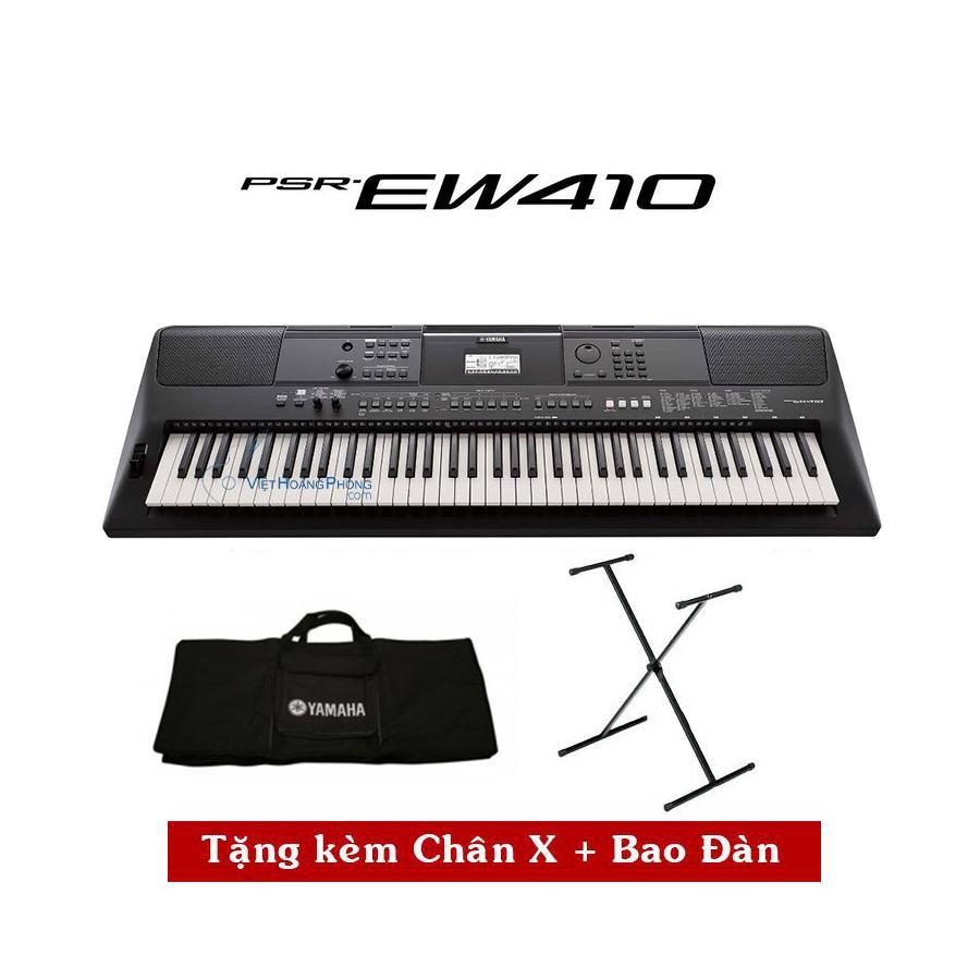 Đàn Organ Yamaha PSR-EW410 Kèm Giá nhạc + Chân X + Bao đàn - HappyLive shop