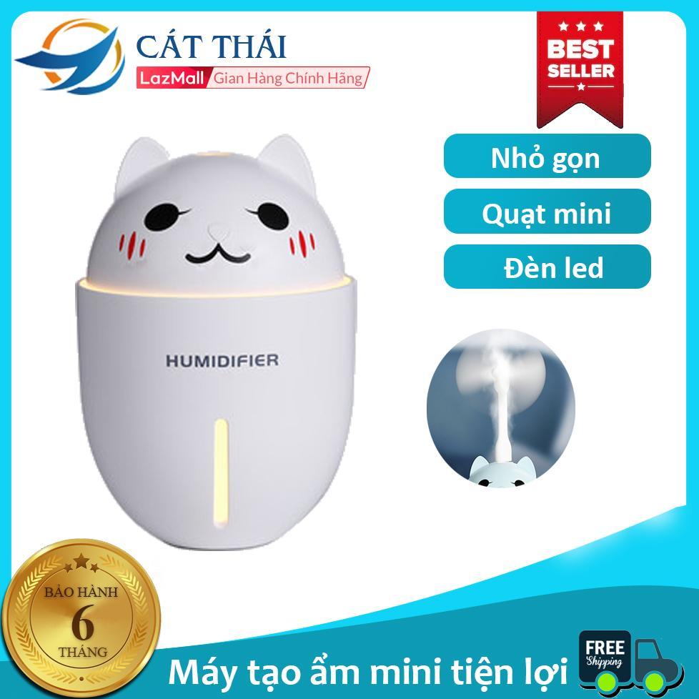 Máy tạo ẩm/Phun sương thú cưng mèo kute MT-Y1, đèn led usb +quạt mini usb, công suất lớn, phun sương liên tục và không gây tiếng ồn,làm mát da