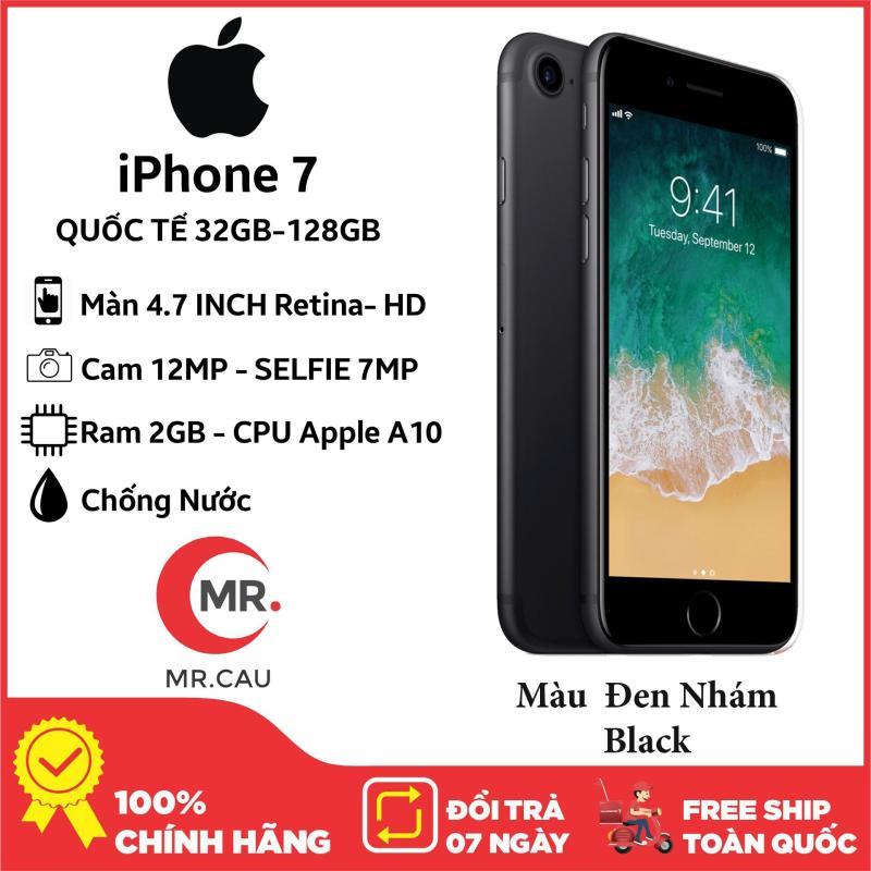 Điện thoại Apple iPhone 7  32GB 128GB QUỐC TẾ (BẢO HÀNH 12 Tháng)  2GB RAM Quad-core 2.34GHz Chipset Apple A10 Fusion Màn Hình 4.7 inches Camera sau 12MP Selfie 7MP Đẳng Cấp