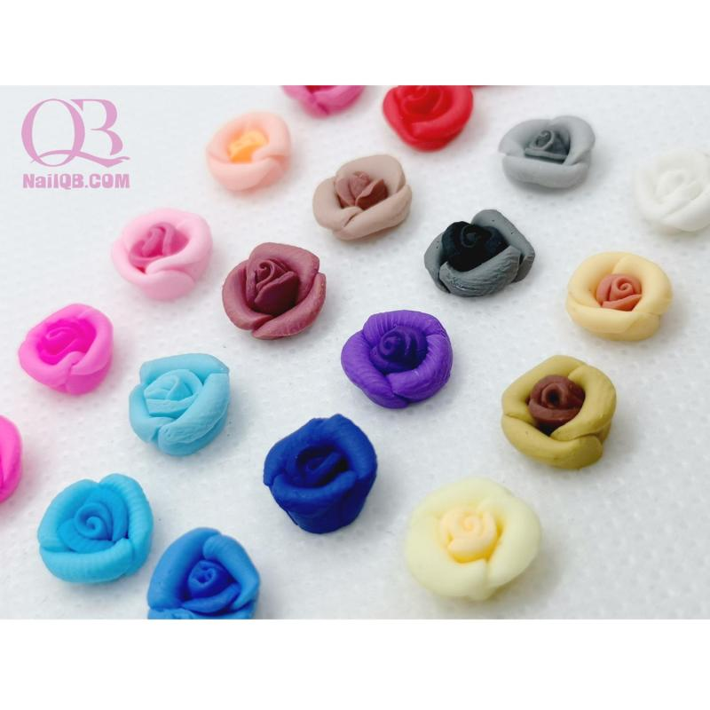 Set 4 bông hoa fantasy nhỏ trang trí móng tùy chọn màu nhập khẩu
