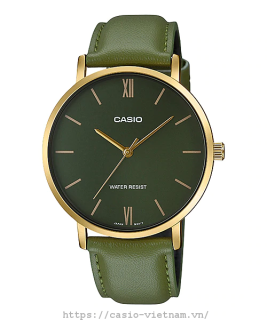 Đồng hồ nam Casio MTP-VT01GL-3BUDF Dây xanh lá nam tính mẫu mới 2020 thumbnail
