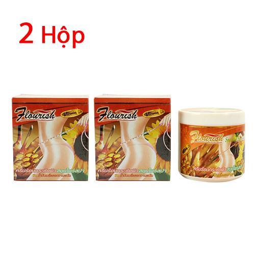 Bộ 2 hộp kem tan mỡ bụng gừng ớt Flourish Thái Lan nhập khẩu