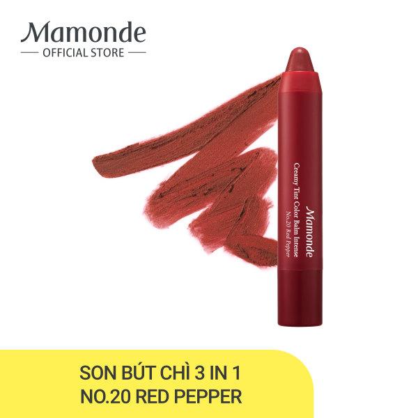 Son bút chì 3 in 1 cho bờ môi mềm mượt Mamonde Creamy Tint Color Balm Intense 2.5g tốt nhất