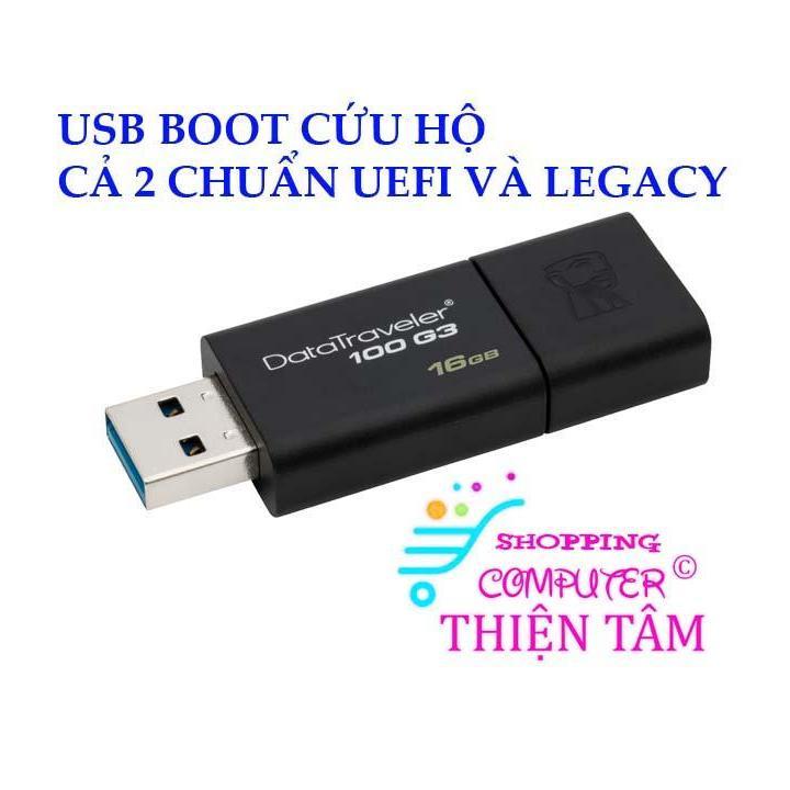 Hướng dẫn tạo USB boot cứu hộ máy tính