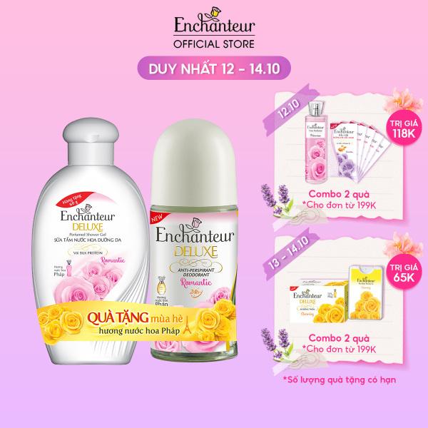 [Tặng Sữa tắm Romantic 60g] Lăn khử mùi nước hoa Enchanteur Romantic 50ml - SMP 2021 cao cấp