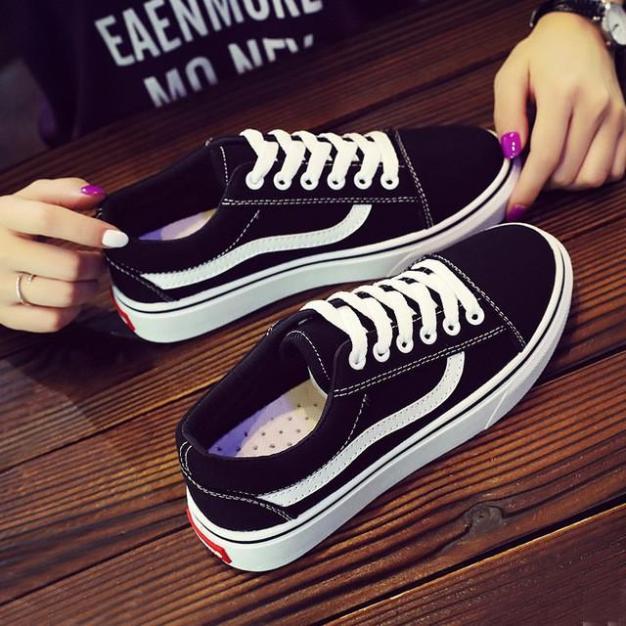Giày Nữ - Giày Thể Thao Nữ BLACK VANS cao cấp thanh lịch, êm chân giá rẻ
