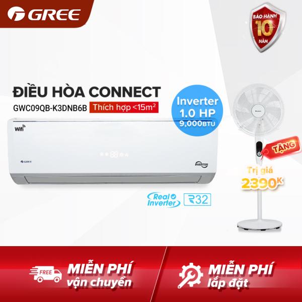 Bảng giá Điều hòa GREE- công nghệ Real Inverter- 1 HP (9.000 BTU) - CONNECT GWC09QB-K3DNB6B (Trắng) - Hàng phân phối chính hãng Điện máy Pico