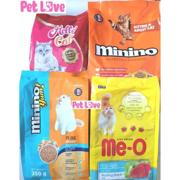 COMBO 4 loại thức ăn hạt cho mèo (Minino, Meo, Minino Yum, Hello Cat)