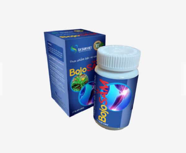 Xương khớp Sa Sâm Việt BojoSAM - Giúp giảm chân tay tê mỏi, Hỗ trợ giảm sưng, đau nhức xương khớp nhập khẩu