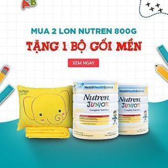 bộ 2lon Sản phẩm dinh dưỡng nestle nutren junior (800g)