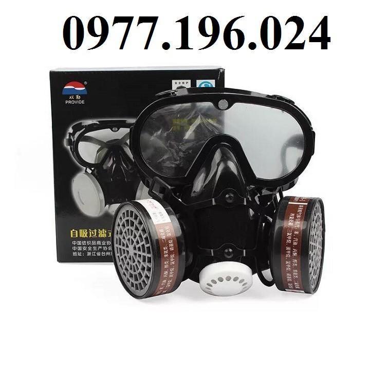 Mặt nạ phòng độc , phòng khói khí độc có liền kính chống hóa chất