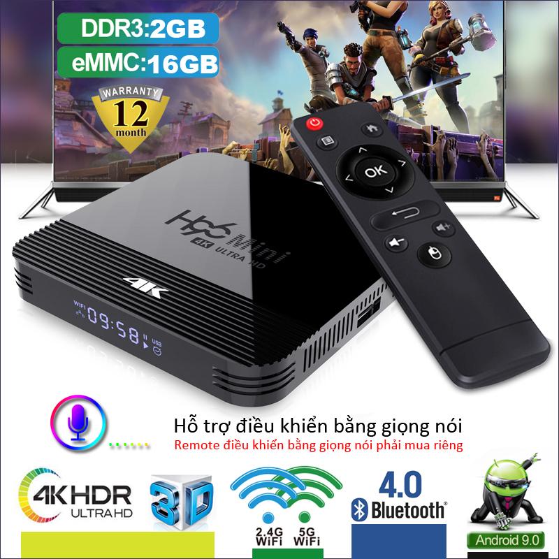 Android TV BOX phiên bản 2GB RAM bộ nhớ Wifi 2.4G bộ nhớ ROM16G hỗ trợ chơi nghe nhạc, xem phim trên các ứng dụng , hỗ trợ tìm kiếm giọng nói bảo hành 12 tháng H96MINIH8