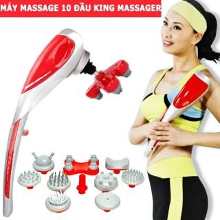 Máy Mát Xa Cầm Tay 10 Đầu King Massager Máy Massage Lưng Hồng Ngoại 10 đầu thumbnail