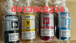 Epson 664 4 màu 1 bộ zin theo máy( epson L300 310 L350 L360 365 385 405 1300 thumbnail