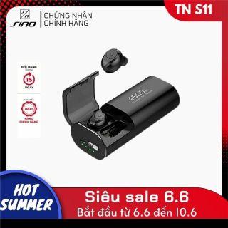 Tai nghe Bluetooth SINO S11 kèm pin sạc dự phòng dung lượng cao Kết nối Bluetooth 5.0 Tai nghe không dây nghe nhạc, chơi game hiện đại Hàng nhập khẩu thumbnail