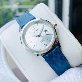 Đồng hồ Nữ Citizen máy quartz, dây da, kính cứng EU6070-19A thumbnail