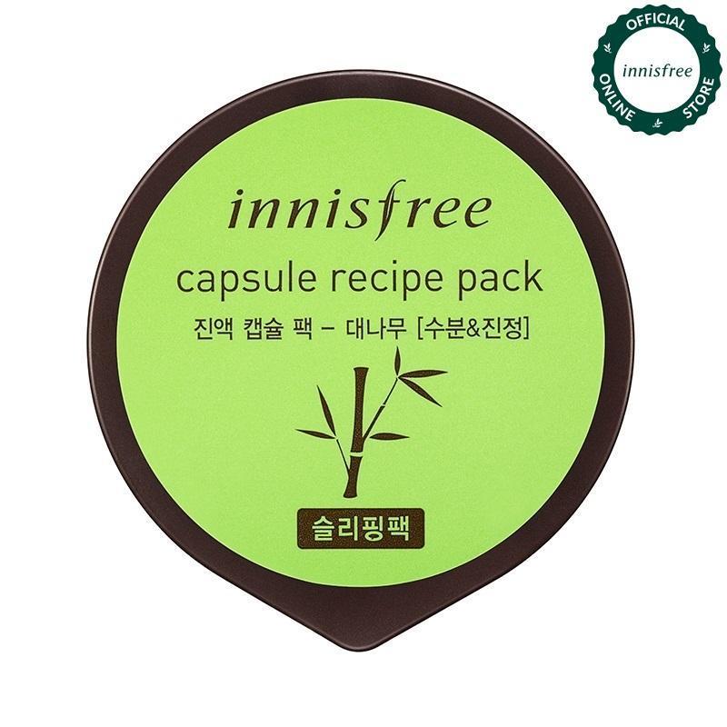 Mặt nạ ngủ dưỡng ẩm & làm mịn da từ tre Innisfree Capsule Recipe Pack - Bamboo 10ml nhập khẩu
