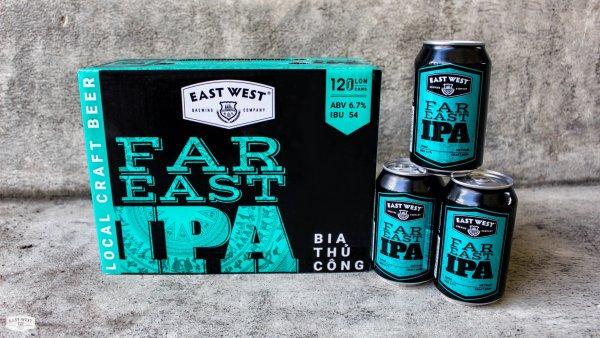 BIA THỦ CÔNG EAST WEST FAR EAST IPA - THÙNG 12 LON