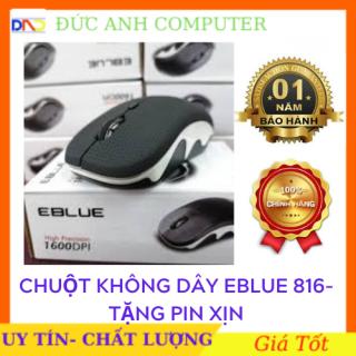 Chuột không dây EBLUE EMS816 - Màu Đen - Kiểu Dáng Cực Đẹp- Click Cực Nhạy - Phù Hợp Cho Văn Phòng Bảo Hành 12 Tháng Chính Hãng 100% thumbnail