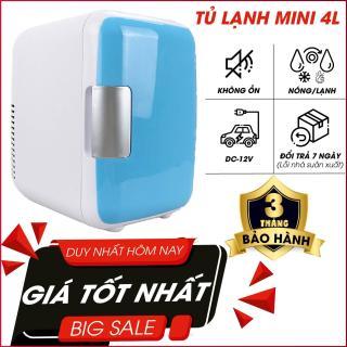 Tủ lạnh mini hộ gia đình và xe hơi VegaVN - 4Lít-Tủ lạnh, tủ mát mini dùng cả trong nhà, trên oto, xe hơi (4 Lít, hai chiều nóng lạnh) Cao cấp Agiadep thumbnail