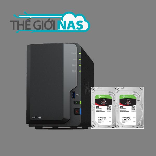 Bảng giá Combo Thiết bị lưu trữ mạng NAS Synology DS218+ và Ổ cứng Seagate Ironwolf 2TB Phong Vũ