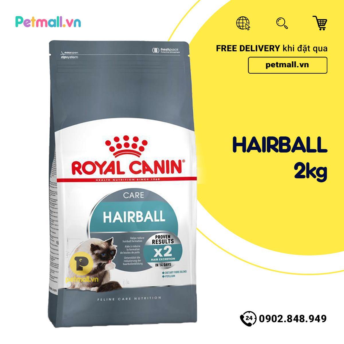 Thức ăn Mèo Royal Canin HAIRBALL Care 2kg - Giảm Búi Lông Khuyến Mại Hot