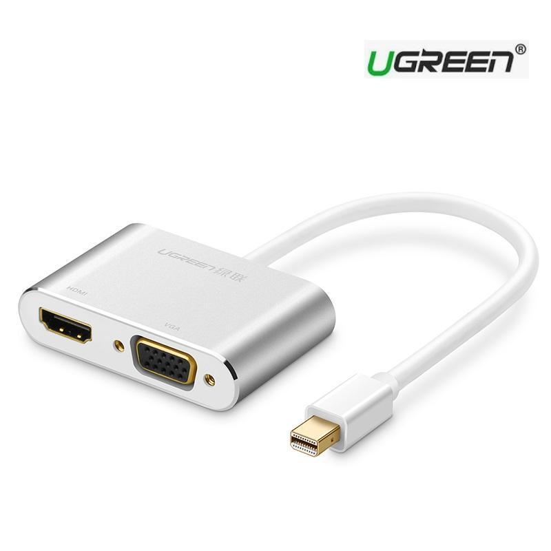 Bảng giá UGREEN 10439 - MINI DISPLAYPORT TO HDMI VÀ VGA - Cao cấp Phong Vũ