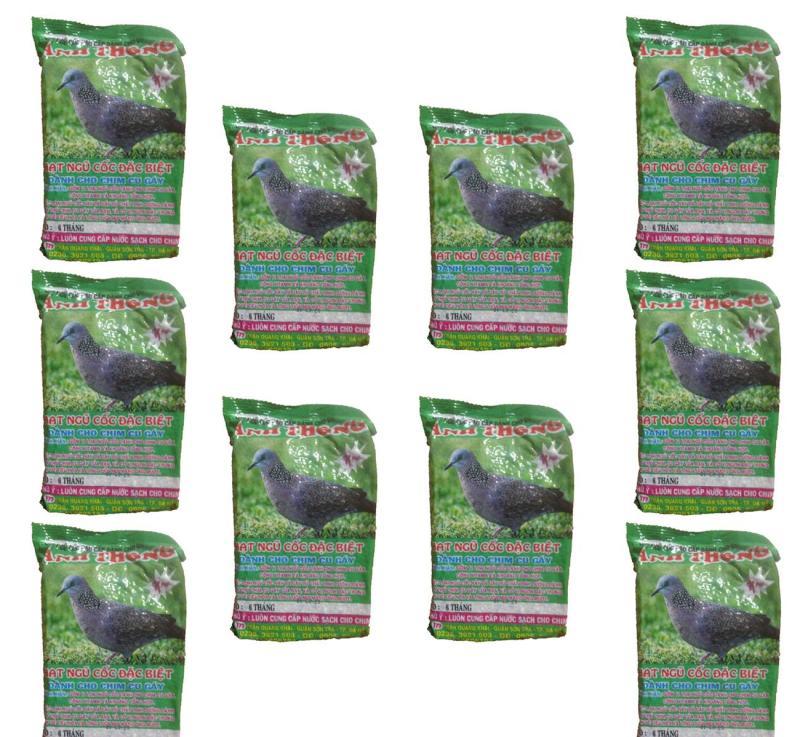 Combo 10 Gói Hạt Ngũ Cốc Chim Cu Gáy Anh Thông 300g - Thức Ăn Chim