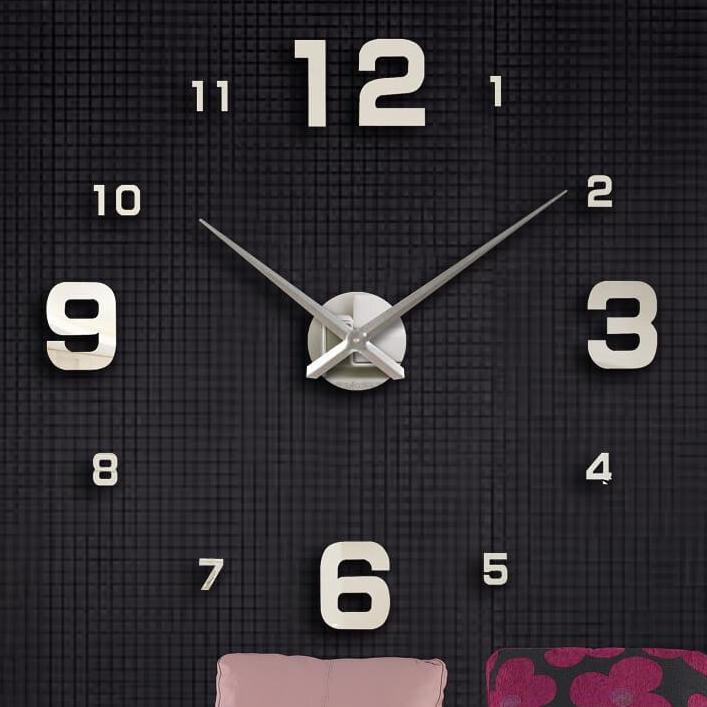 Nơi bán [TẶNG PIN] Đồng hồ dán tường số nổi 3D - 90cm-120cm - 3 màu - đồng hồ treo tường, dán tường số lớn - nhỏ- DH182