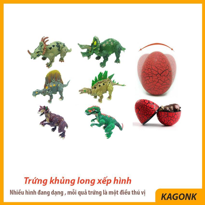 Đồ chơi trứng khủng long xếp hình Puzzle làm từ nhựa ABS nguyên sinh an toàn - Đồ chơi trẻ em Kagonk 291019