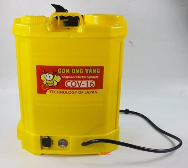 Bình xịt điện 16 lít con ong vàng cov 16d phun xịt hiệu quả cao - Bảo hành 12 tháng