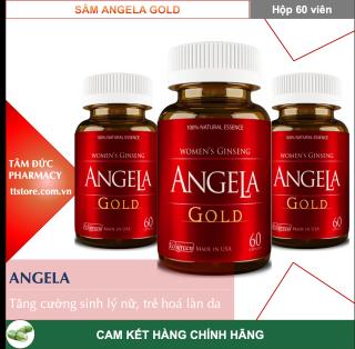 SÂM ANGELA GOLD [Hộp 60 viên] - Hỗ trợ tăng cường sinh lý nữ, cải thiện làn da tươi trẻ [angela] thumbnail