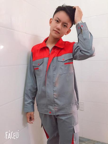 Quần áo bảo hộ lao động kaki loại dày khóa kéo SHUNI006B