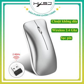 [Bảo hành 12 tháng] Chuột không dây sạc pin HXSJ T27 2,4GHz sử dụng công nghệ cảm biến quang học 1600DPI Khoảng cách kết nối lên đến 10m, Chuột không dây Chống ồn- Hàng chính hãng thumbnail