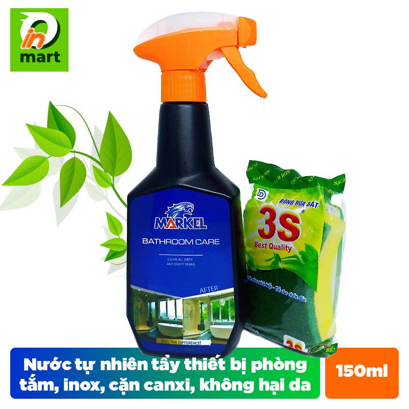 Nước tẩy rửa phòng tắm và thiết bị inox chiết xuất từ thiên nhiên không dùng hóa chất không hại da tay nhập từ Mỹ