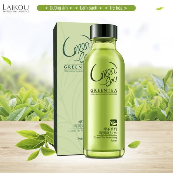 Nước cân bằng chăm sóc da trà xanh LAIKOU nước hoa hồng cân bằng độ ẩm cho da làm mịn và sạch da toner  XP- TN051 cao cấp