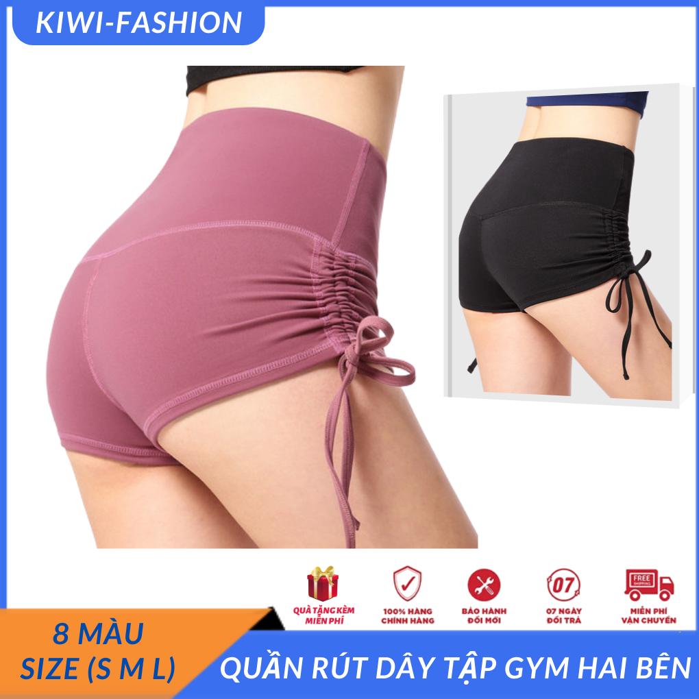 quần đùi rút dây tập gym hai bên hông tạo cảm giác cho vòng ba thêm phần hấp dẫn, đồ tập gym nữ giá rẻ tphcm-CR007