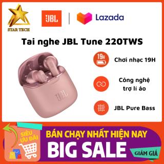 [Nguyên Seal - Bảo Hành 2 Năm] Tai nghe Bluetooth True Wireless JBL Tune 220 - Tai Nghe Nhét Tai Bluetooth Không Dây - Âm bass mạnh mẽ với công nghệ JBL Pure Bass Sound - Pin Trâu Tới 19h - Thiết Kế Bắt Mắt, Thời Trang, Cá Tính thumbnail