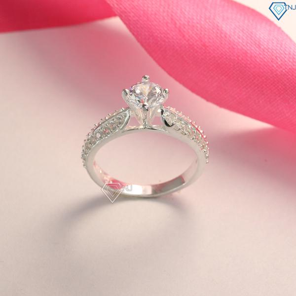 Nhẫn nữ bạc đính đá đẹp giá rẻ NN0165 - Trang Sức TNJ