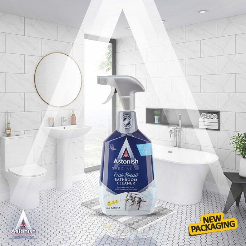Bình xịt tẩy rửa nhà tắm Astonish dung dịch vệ sinh sen vòi inox chậu rửa lavabo C6710 (750ml) - Gia Dụng Nhập Khẩu Minh Anh